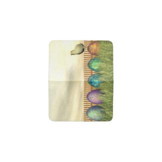 Huevos coloridos para pascua - 3D rinden Tarjetero