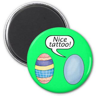 Huevos de Pascua agradables del tatuaje Imán Redondo 5 Cm
