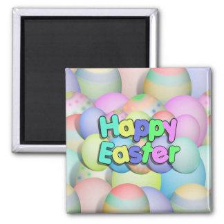 Huevos de Pascua coloreados - Pascua feliz Imanes
