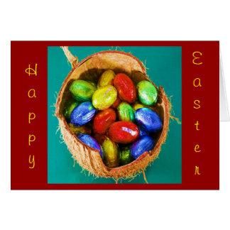 Huevos de Pascua en la cesta I Tarjeta De Felicitación