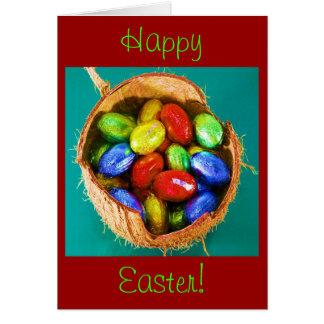 Huevos de Pascua en la cesta III Tarjeta De Felicitación
