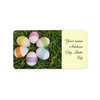 Huevos de Pascua Etiqueta De Dirección