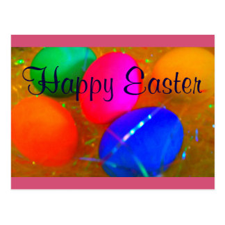 Huevos de Pascua felices de la postal de Pascua