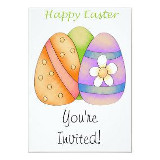 Huevos de Pascua felices Invitación 12,7 X 17,8 Cm