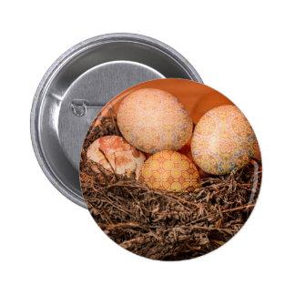 Huevos de Pascua rústicos en jerarquía Chapa Redonda De 5 Cm