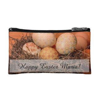 Huevos de Pascua rústicos en jerarquía Estuche De Maquillaje