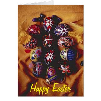 Huevos de saludo felices de Pascua Card~Decorative Tarjeta De Felicitación