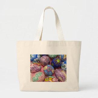 Huevos multicolores hermosos del ucraniano de la c bolsa tela grande
