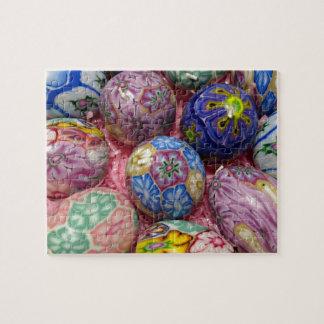 Huevos multicolores hermosos del ucraniano de la c puzzles