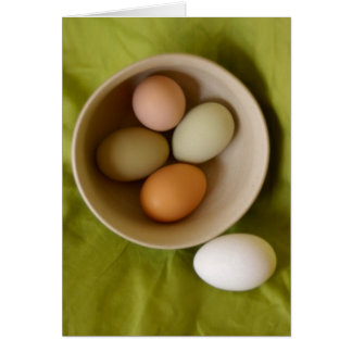 Huevos naturales tarjeta