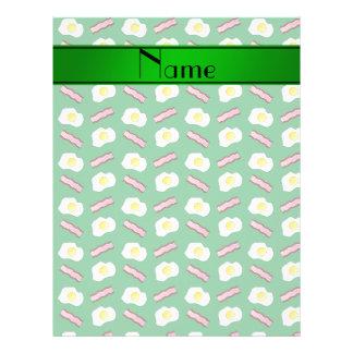 Huevos verdes conocidos personalizados del tocino folleto 21,6 x 28 cm