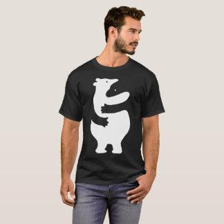 """Huggers """"impresión blanca """" camiseta"""