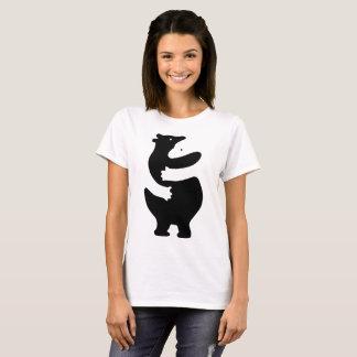 "Huggers ""impresión del negro "" camiseta"