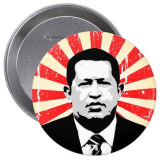 Hugo Chavez Chapa Redonda De 10 Cm