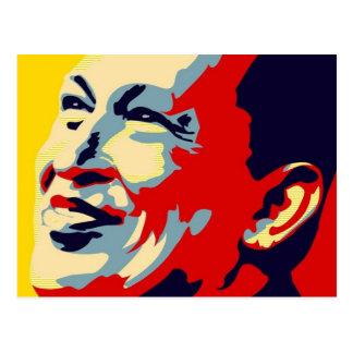 Hugo Chavez - estilo de la esperanza de Obama Postal