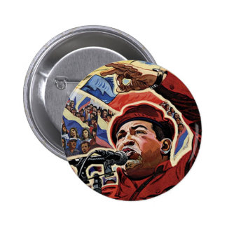 Hugo Chavez - estilo de la revolución del dibujo a Pin