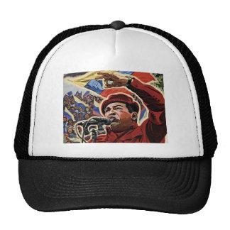 Hugo Chavez - estilo de la revolución del dibujo a Gorra