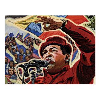 Hugo Chavez - estilo de la revolución del dibujo a Tarjeta Postal