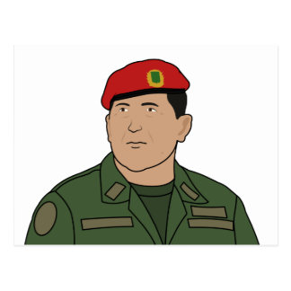 Hugo Chavez - Hugo el estilo del dibujo animado de Postal