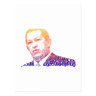 Hugo Chavez - Hugo en estilo de las palabras Tarjetas Postales