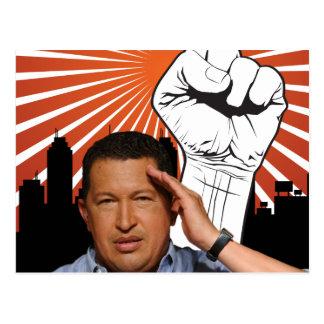 Hugo Chavez - Hugo saluda estilo Postal