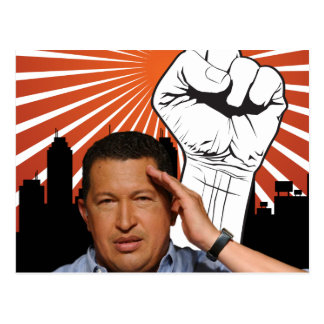 Hugo Chavez - Hugo saluda estilo Postales