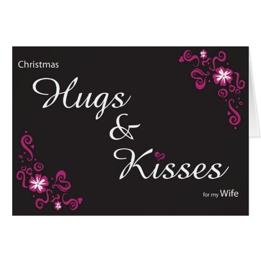 hugs&kisses para mi esposa tarjeton