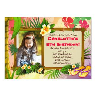 ¡Hula encima!  Invitaciones tropicales hawaianas Invitación 12,7 X 17,8 Cm