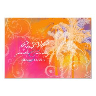 Hula tropical del rsvp de PixDezines+color de Invitación 8,9 X 12,7 Cm