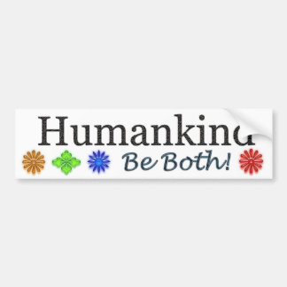 Humanidad, sea ambas etiqueta de parachoque
