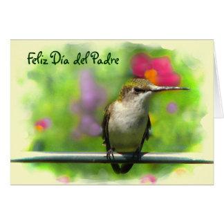 Hummingbird Dia del Padre Tarjeta De Felicitación