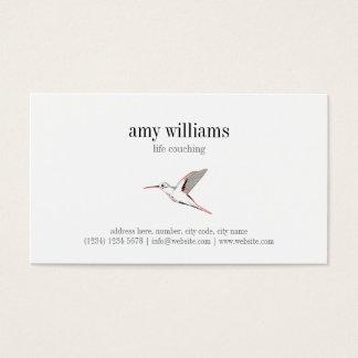 Hummingbird illustration feminine artistic card tarjeta de visita