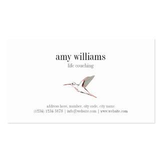 Hummingbird illustration feminine artistic card tarjetas de visita
