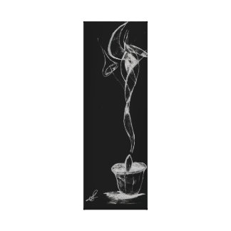Humo abstracto de la vela lienzo
