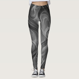 Humo coloreado en blanco y negro leggings