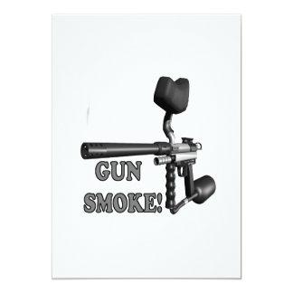 Humo de arma invitación 12,7 x 17,8 cm