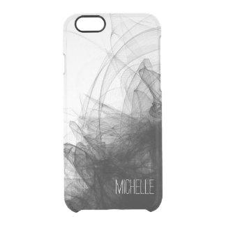 Humo negro con nombre funda transparente para iPhone 6/6S