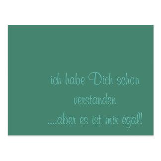 Humor alemán del texto postal