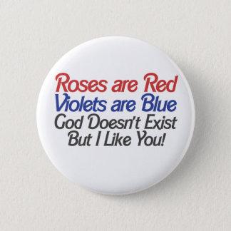 Humor ateo divertido del día de San Valentín Chapa Redonda De 5 Cm