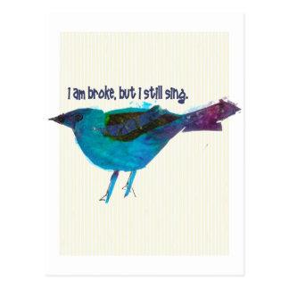 Humor azul de la recesión del pájaro postal