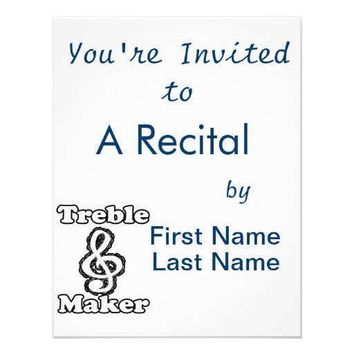 humor blanco de la música del esquema del negro de invitaciones personalizada