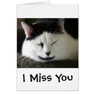 Humor blanco y negro del gato tarjeta de felicitación