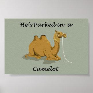 Humor de Camelot del camello Póster
