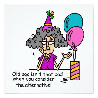 Humor de la alternativa del cumpleaños invitación 13,3 cm x 13,3cm