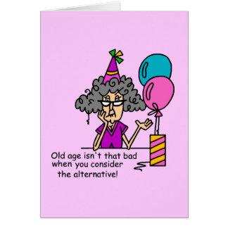 Humor de la alternativa del cumpleaños felicitación