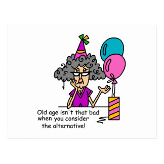Humor de la alternativa del cumpleaños postal