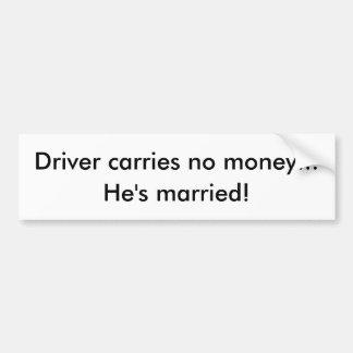 humor de la boda pegatina para coche