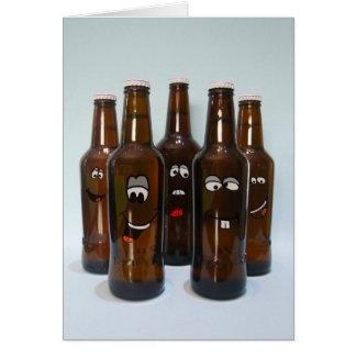 Humor de la cerveza del cumpleaños tarjeta de felicitación