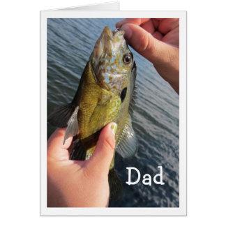 Humor de la pesca para que el cumpleaños del papá tarjeta de felicitación