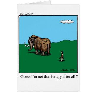 Humor de la tarjeta de felicitación del estímulo